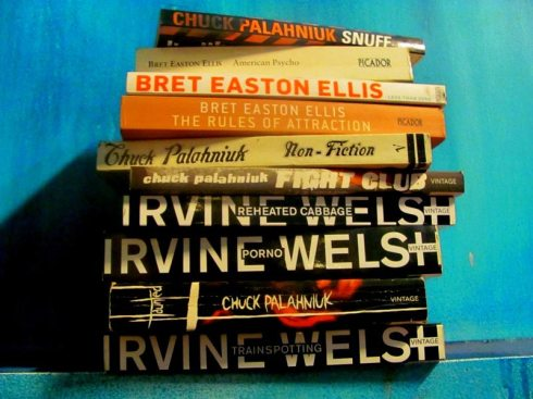 bret easton ellis, american psycho, chuck palahniuk, fight club, irvine welsh, trainspotting, books, fiction, vijayeta basu, nothing witty to say